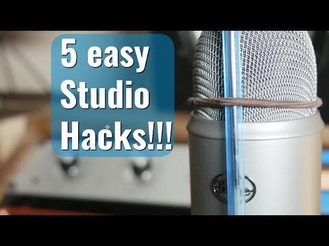 5 home studio hacks under 2 minutes!!