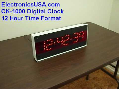 12 24 Hour Wall Clock Led Wall Clock Military Time