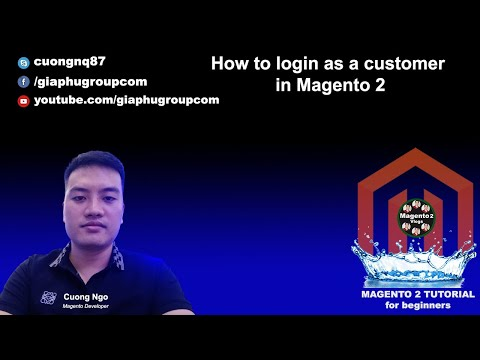 How to login as a customer in Magento 2
