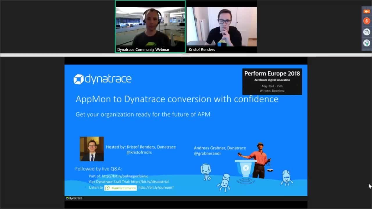 Online Perf Clinic - Converting from AppMon to Dynatrace with confidence