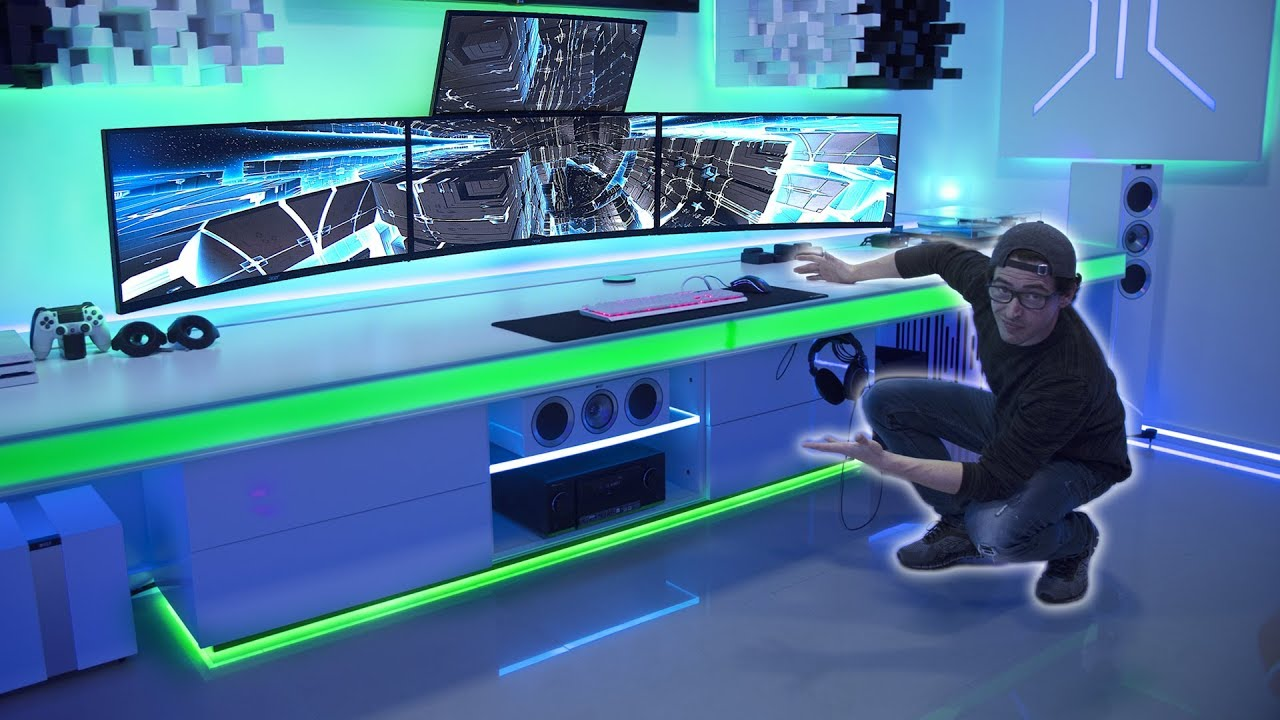 Best Custom Desk In The World Ultimate Cable Management Youtube