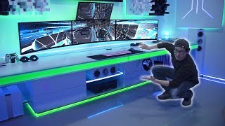 BEST Custom Desk In The World!  Ultimate Cable Management