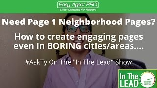 In The Lead #5: Get Page One SEO Results Even If You Live In A Boring Area
