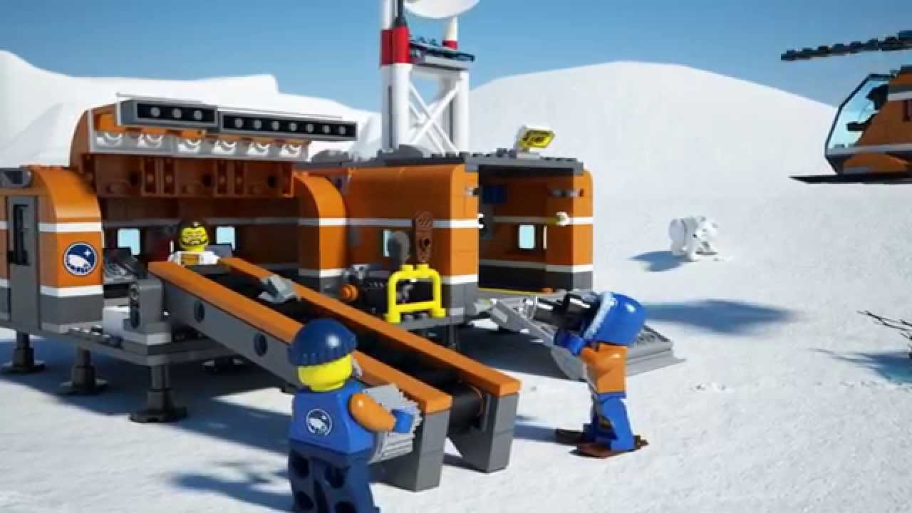 Lego city arctic 60036 arctic base camp lego 3d review youtube