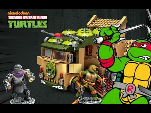 TMNT Classic Party Waggon-Mega Bloks Set