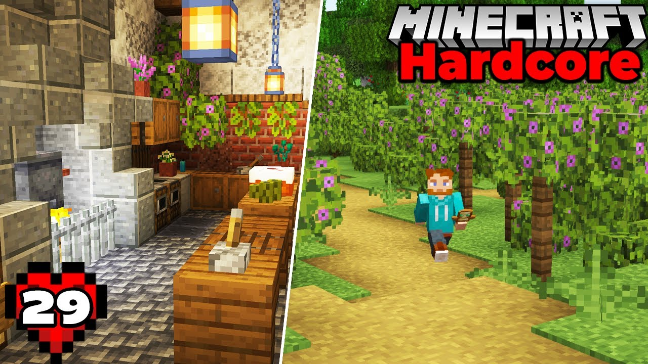 I Built an Azalea Vineyard AND The Castle Interior in Minecraft 1.17 Hardcore Survival