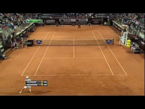 ATP Rome 2011 Semi Final Highlights - Murray Vs Djokovic