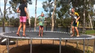 Trampoline Double Bounce Fail