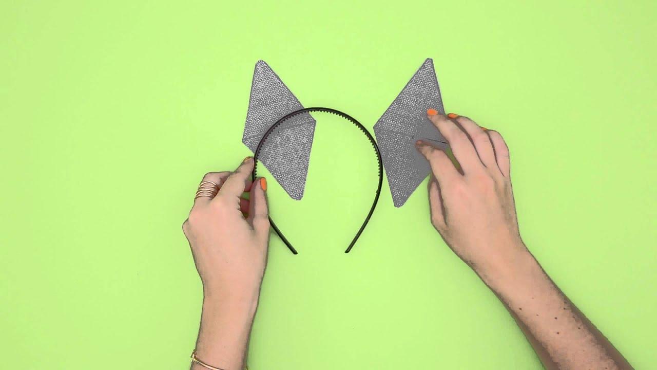 how to diy cat ears youtube