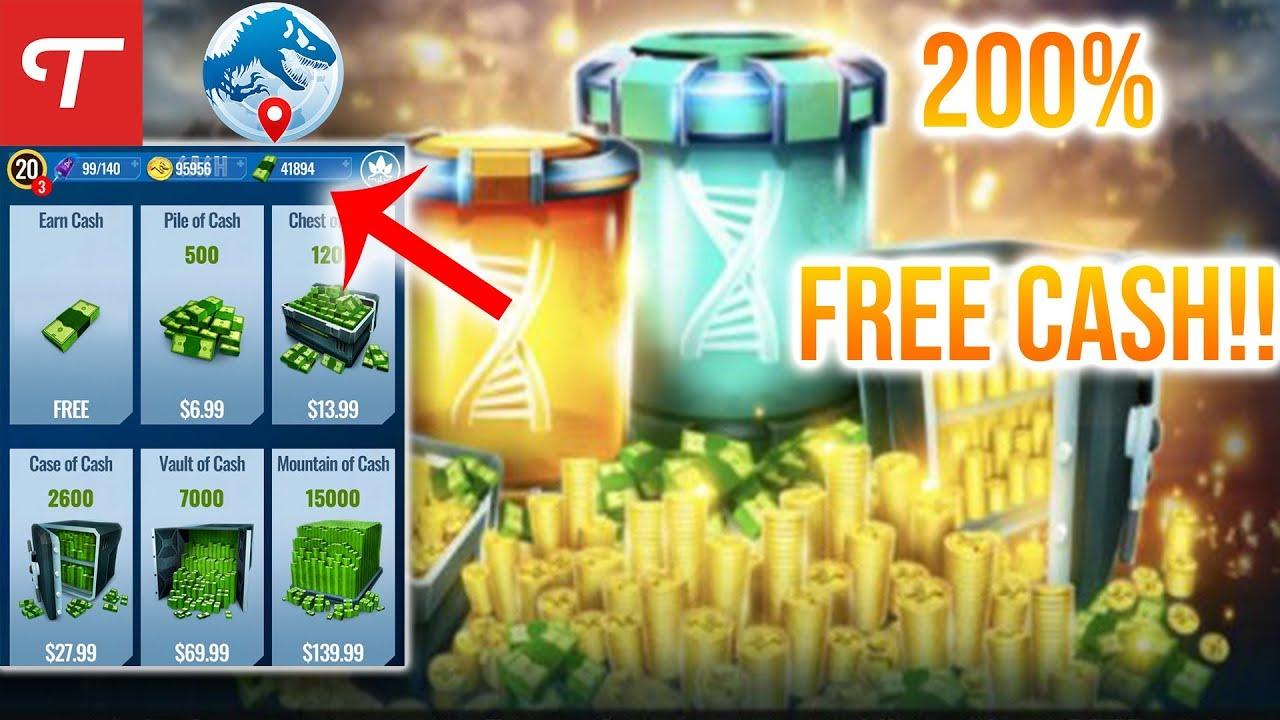 How To Get A TON OF CASH For Free In Jurassic World Alive