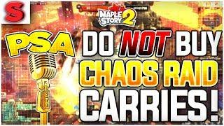 DON'T Buy Chaos Raid Runs! Here's Why! [MapleStory 2]