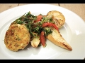 Rybie fašírky s jarným chilli šalátom