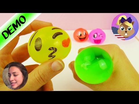 EMOJI SLIME ANTI STRESS SQUISHY BALL | slimy ball with funny faces