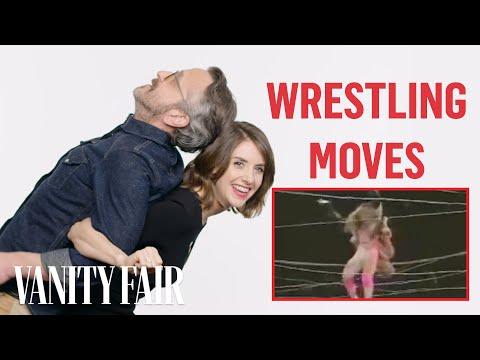 Alison Brie & GLOW Cast Classic Wrestling Moves  Vanity Fair