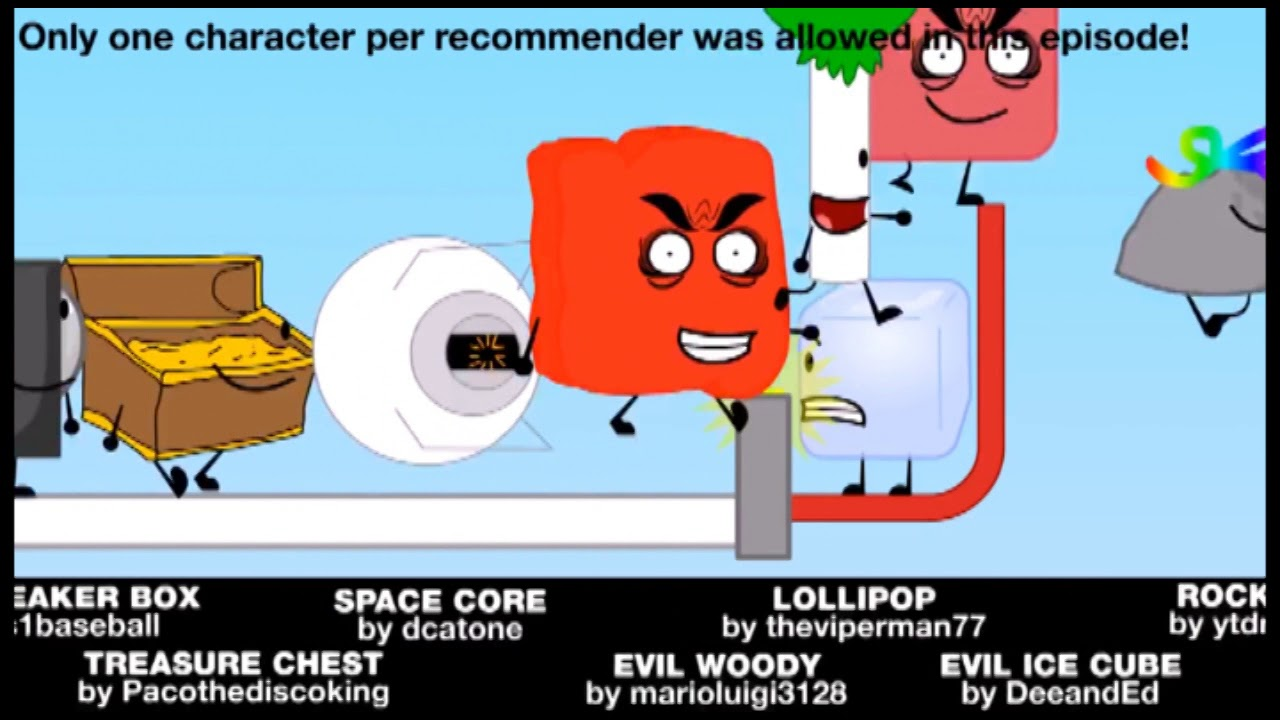 BFDI 21 Recommended Characters But it's 10% Slower That Ables to Look at  Them