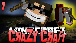 Minecraft CRAZY CRAFT 1 - WTF IS THIS (Minecraft Mod Survival)
