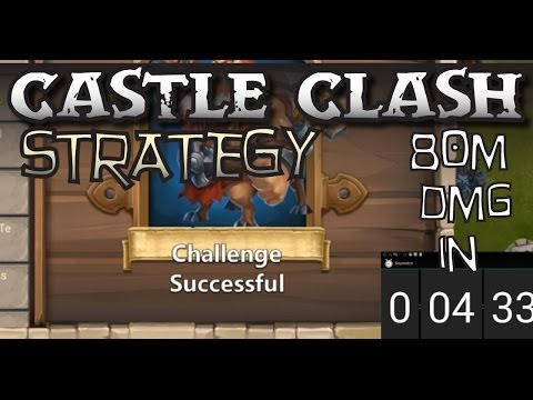Castle Clash Strategy 50: Boss 2 Challenge - 80M Damage In 4.5 Minutes
