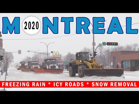 Winter Storm In Montreal, Freezing Rain, January 12, 2020 Quebec, Canada