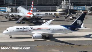 Primer vuelo a Chile de Aeroméxico con Boeing 787 Dreamliner