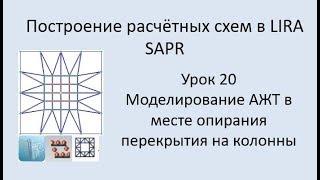 Построение расчётных моделей в Lira Sapr Урок 20