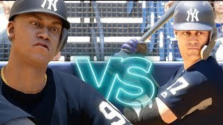 Who Can Hit The Farthest Home Run? Judge Or Stanton? MLB The Show 18