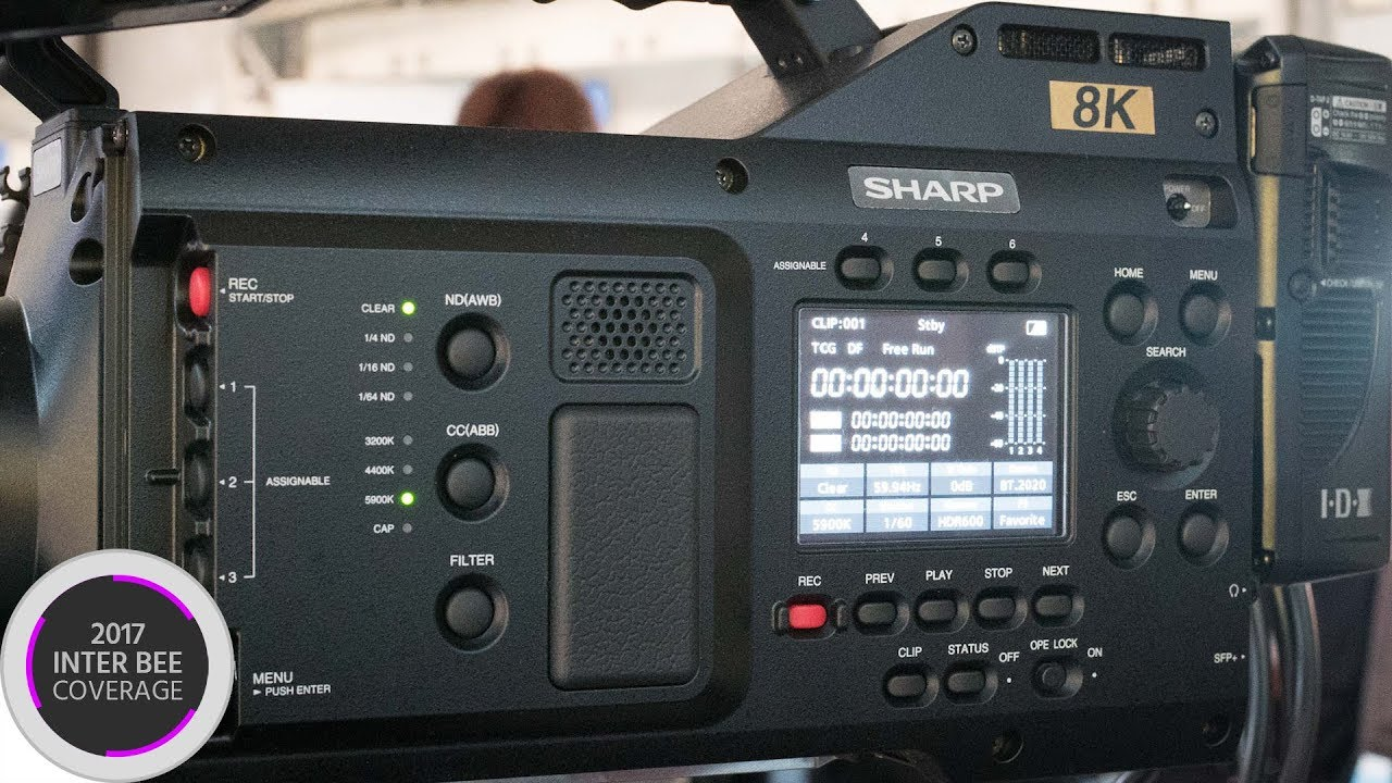 The Sharp 8K Camera - First Look at the 8C-B60A