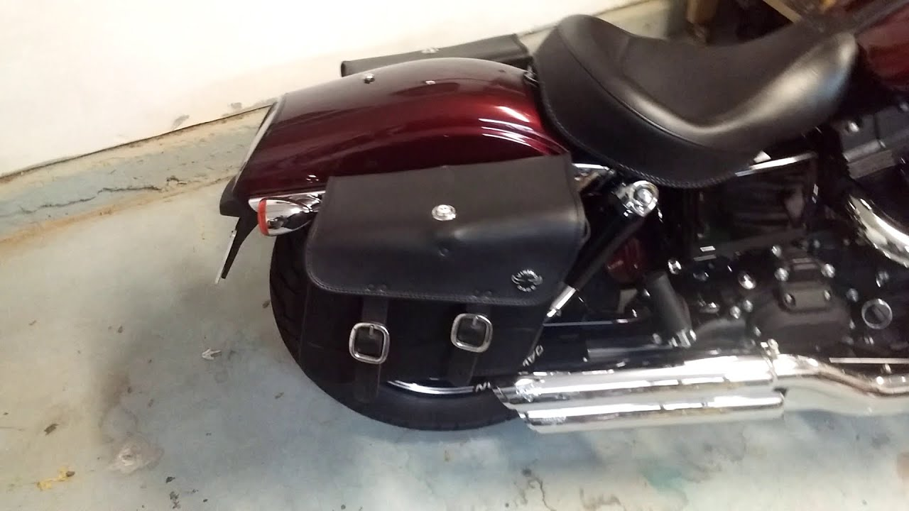 2015 Harley Davidson Dyna Fat Bob Motorcycle Saddlebags