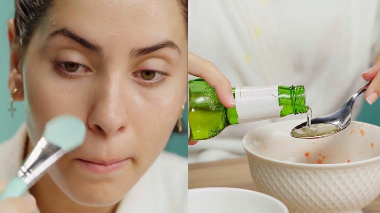 TRUQUES DE BELEZA COM CERVEJA: máscara facial, esfoliante e mais 3 dicas |  Beleza caseira | VIX - YouTube