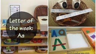 Comment enseigner l'alphabet aux enfants? (Lettre de la semaine de la collab) - Aa