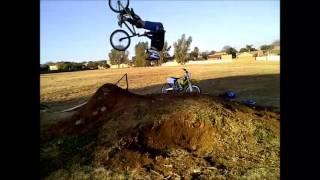 my first bmx dirt jump backflip