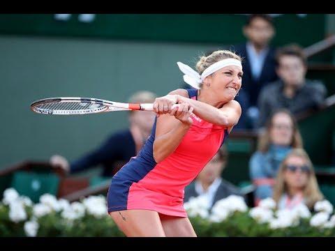 2017 Roland Garros Quarterfinals | Timea Bacsinszky vs Kristina Mladenovic | Highlights