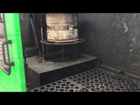Volvo front loading shovel DPF cleaning by DPF repair and cleaning Hull
