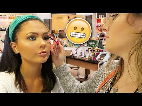 Getting My Makeup Done At THEBODYSHOP Counter | ItsSabrina Ad thumbnail