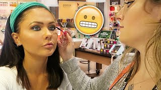 Getting My Makeup Done At THEBODYSHOP Counter | ItsSabrina Ad