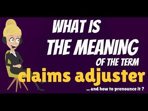 What is CLAIMS ADJUSTER? What does CLAIMS ADJUSTER mean? CLAIMS ADJUSTER meaning & explanation