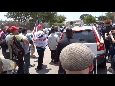 MAXINE WATERS SPENDS 20 MINUTES TRYING TO RUN FROM TRUMP SUPPORTERS WHO SURROUNDED HER TOWN HALL