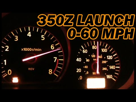 Nissan 350Z / Launch 0-60 MPH 0-100 MPH / Nismo Exhaust - YouTube
