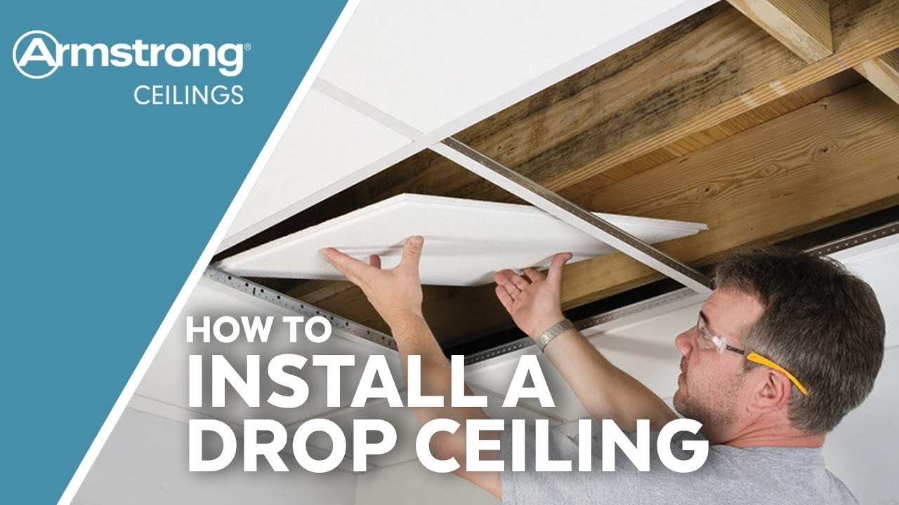 How To Install A Drop Ceiling Armstrong Ceilings For The Home Youtube