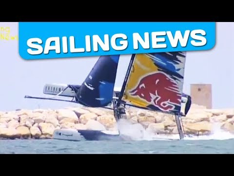 Amazing runs of Extreme 40 in heavy wind conditions - Extreme 40 Trapani