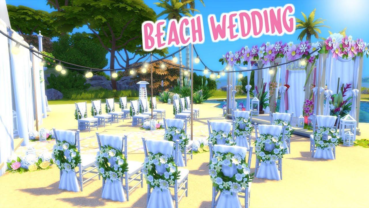 BEACH WEDDING VENUE   The Sims 4 Speed Build #1