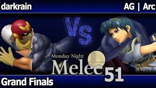 MNM 51 Melee - darkrain (C Falcon) vs AG | Arc (Marth) - Grand Finals