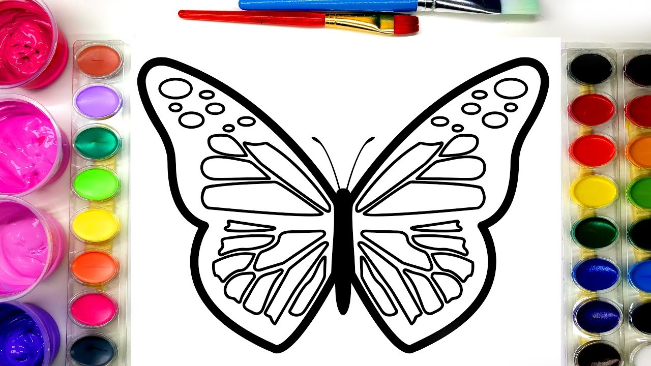 Painting a Pretty Butterfly Painting Page with GAOMON GB4 ...