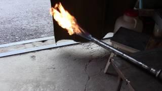 Пробный запуск газовой горелки