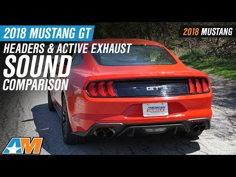 2018 Ford Mustang GT With Long Tube Headers & Active Exhaust Sound Comparison