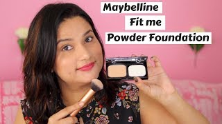 *New* Maybelline Fit Me Skin Fit Powder Foundation Demo & Review
