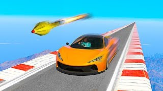 Can You DRIVE FASTER THAN A ROCKET in GTA 5?!