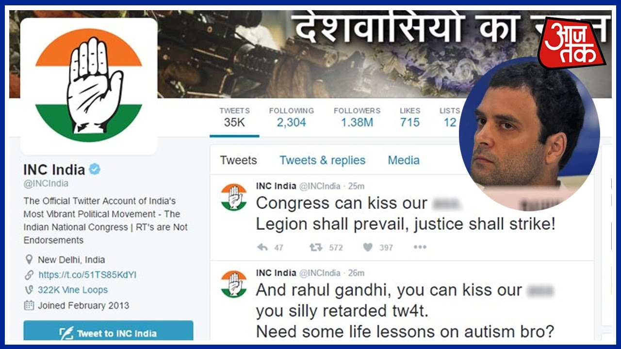 Rahul Gandhi And Indian National Congress' Twitter Accounts Hacked