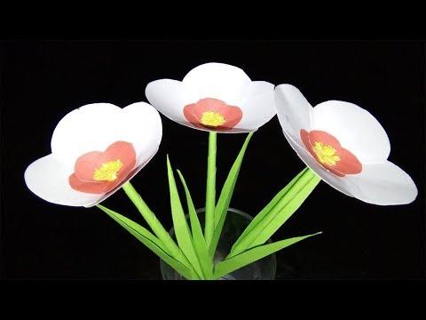 White Paper Stick Nice Flower | Easy Make Flower | ZINAT CRAFTS