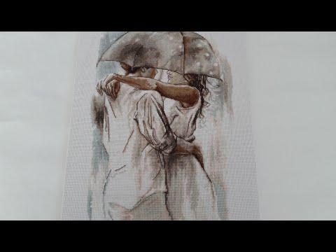 Вышивка крестом под зонтом