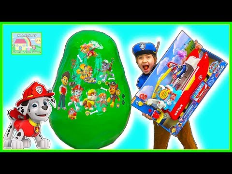 Huge Paw Patrol Surprise Egg Toys & Police Officer Chase | Kids Toy Review